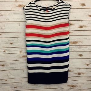 Loft Rainbow Striped Sleeveless Career Dress